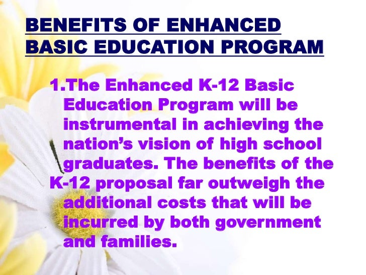 reaction paper of k 12 program What are the advantages and disadvantages of implementing k-12 education in  read the headlines of the paper  the k-12 program is supposed to produce a better.