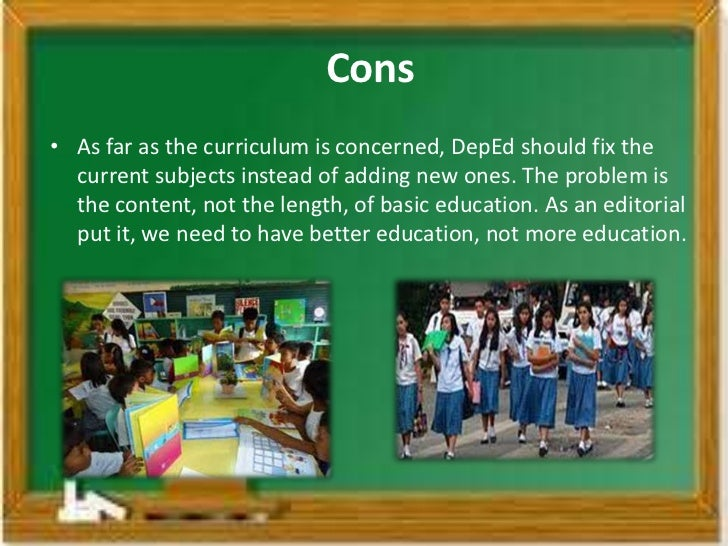 pros and cons of k 12