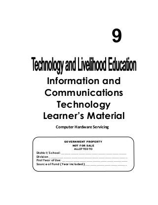 K-12 Module in TLE - ICT Grade 9 [All Gradings]