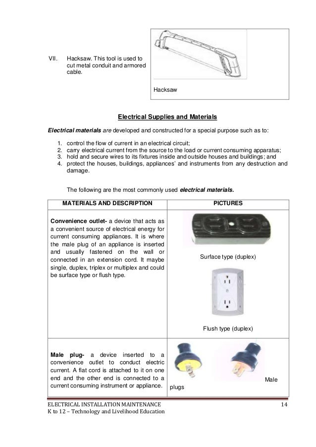 K 12 module in tle 8 electrical 3rd grading livelihood education 15 freerunsca Gallery