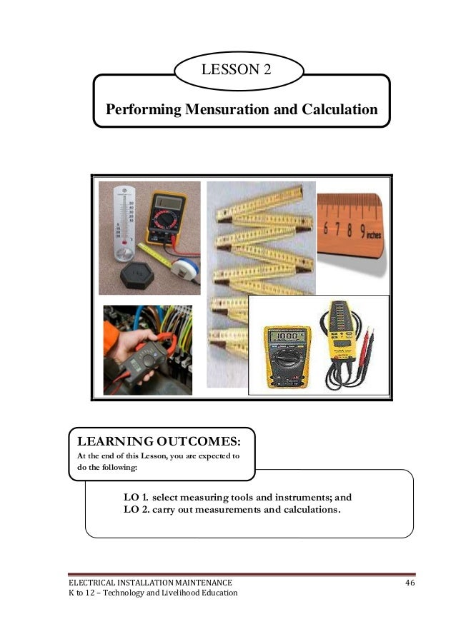 K12 Module In Tle 8 Electrical on 02 Measurements And Calculations