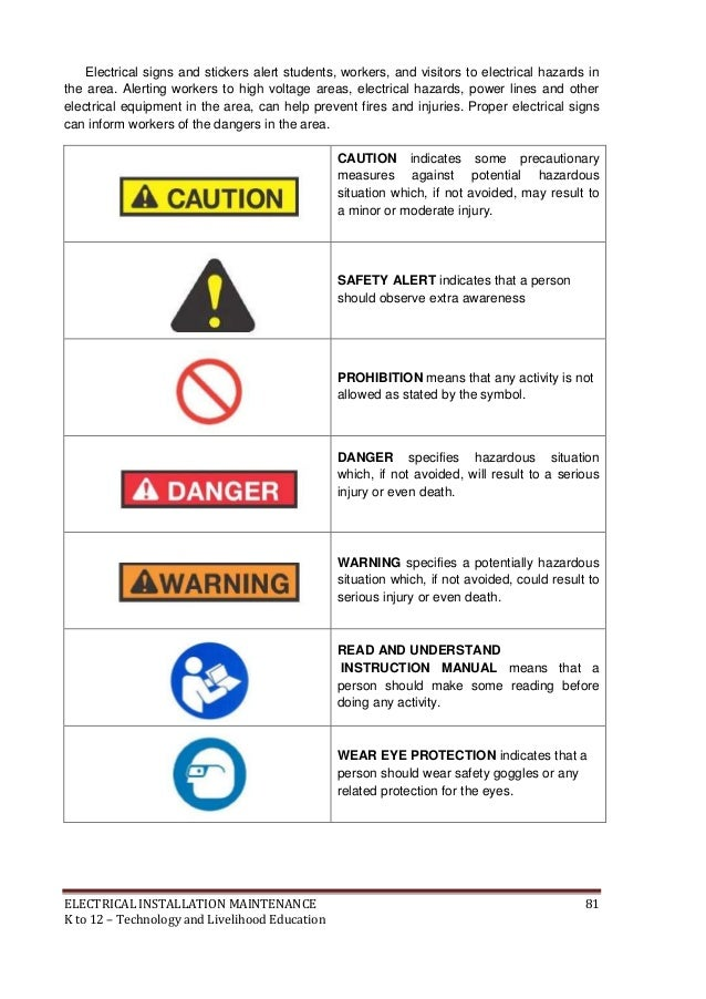 Danger Electricity Symbols. Amazing Warning And Danger Signs Icon ...