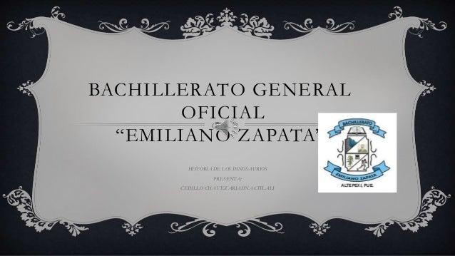 "BACHILLERATO GENERAL OFICIAL ""EMILIANO ZAPATA"" HISTORIA DE LOS DINOSAURIOS PRESENTA: CEDILLO CHAVEZ ARIADNA CITLALI"