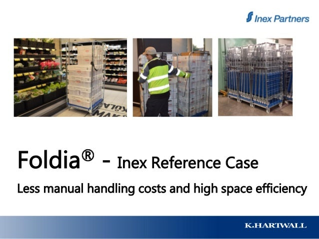 Foldia® - Inex Reference Case Less manual handling costs and high space efficiency