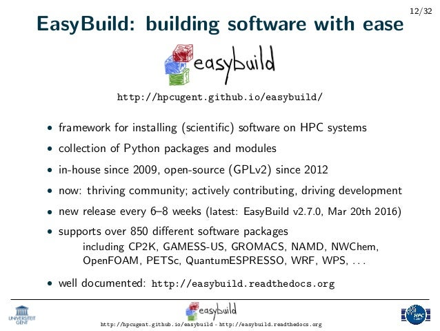 Introduction to EasyBuild: Tutorial Part 1