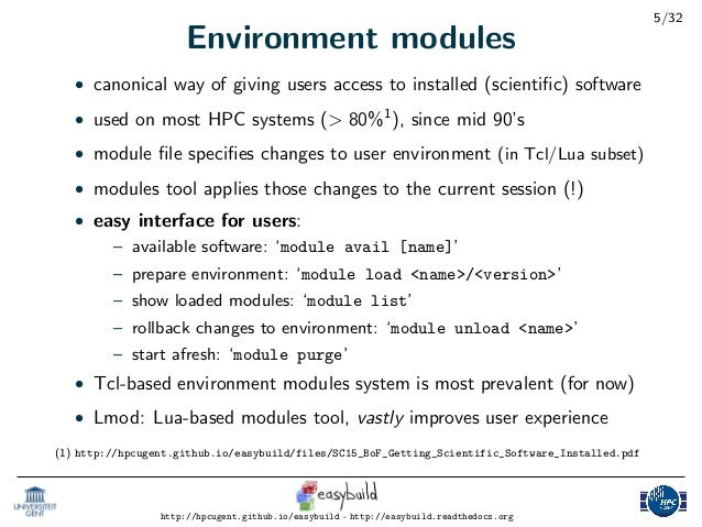 Introduction to EasyBuild: Tutorial Part 1