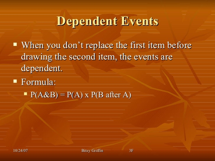 probability independent dependent events