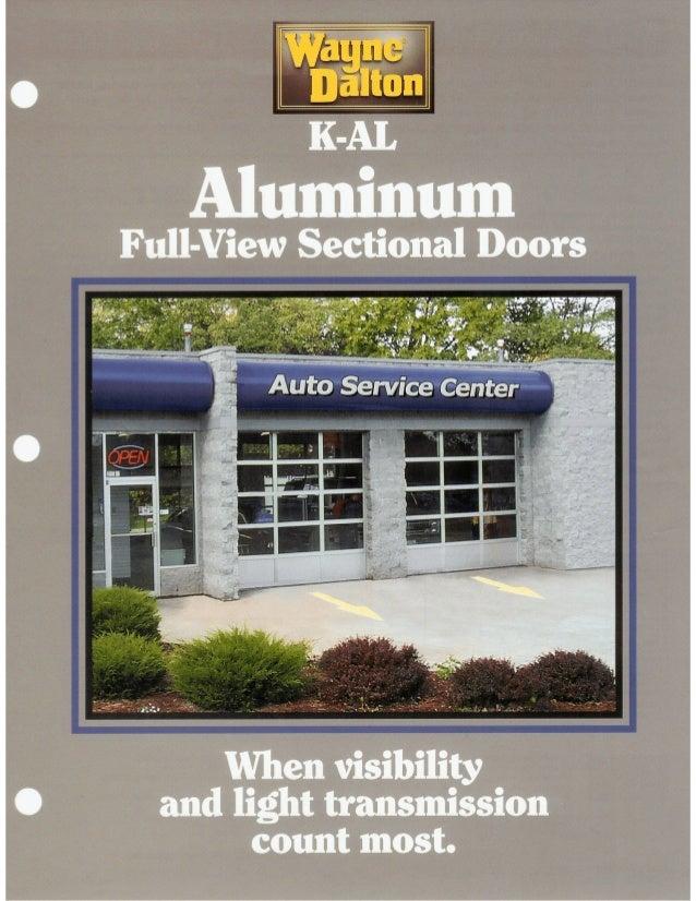 K-AL Aluminum Full-View Sectional Doors