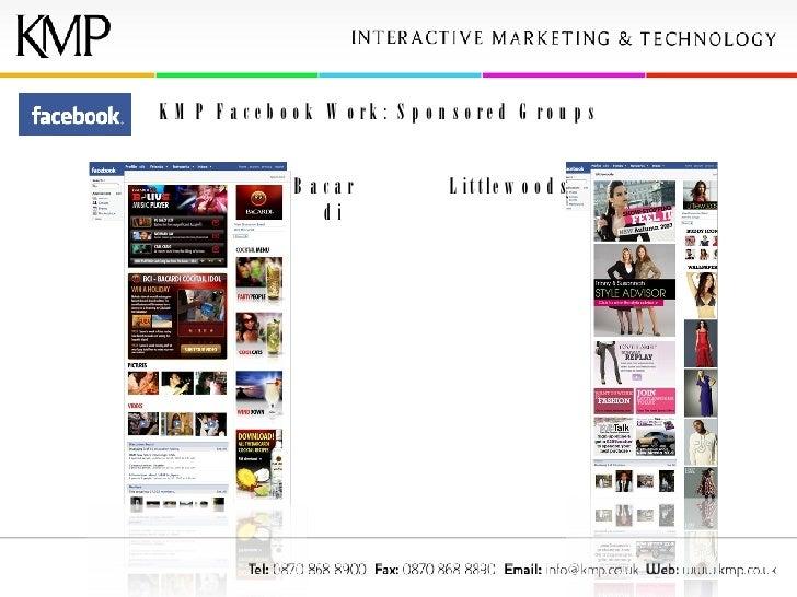 KMP Facebook Work: Sponsored Groups Bacardi Littlewoods