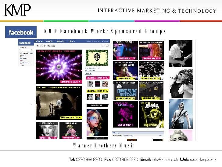 KMP Facebook Work: Sponsored Groups Warner Brothers Music