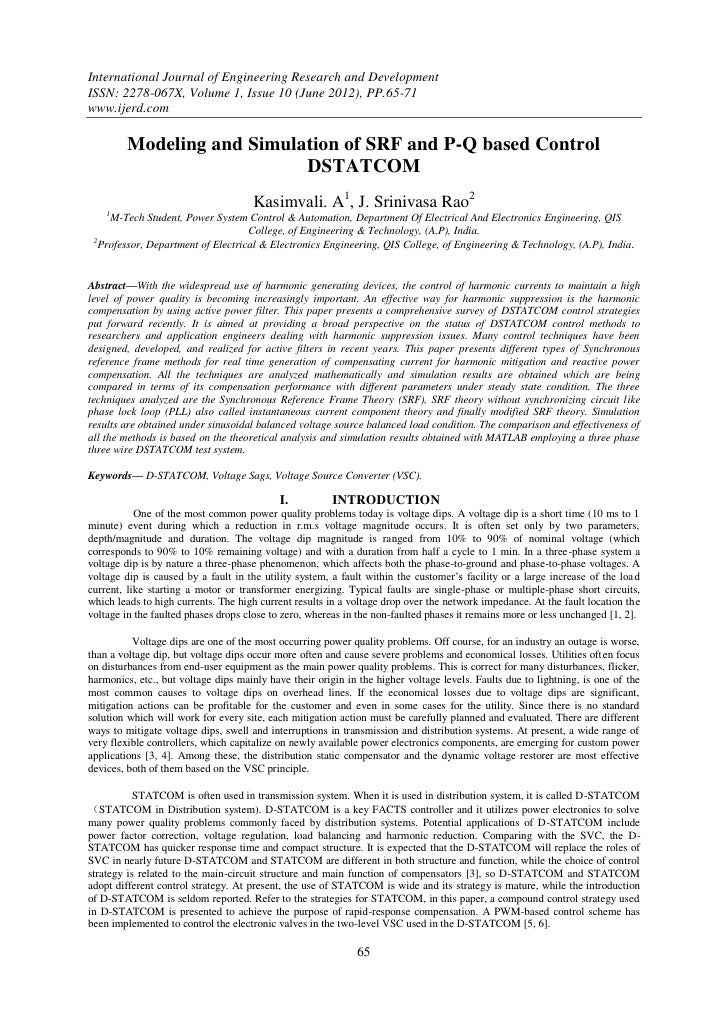 International Journal of Engineering Research and DevelopmentISSN: 2278-067X, Volume 1, Issue 10 (June 2012), PP.65-71www....