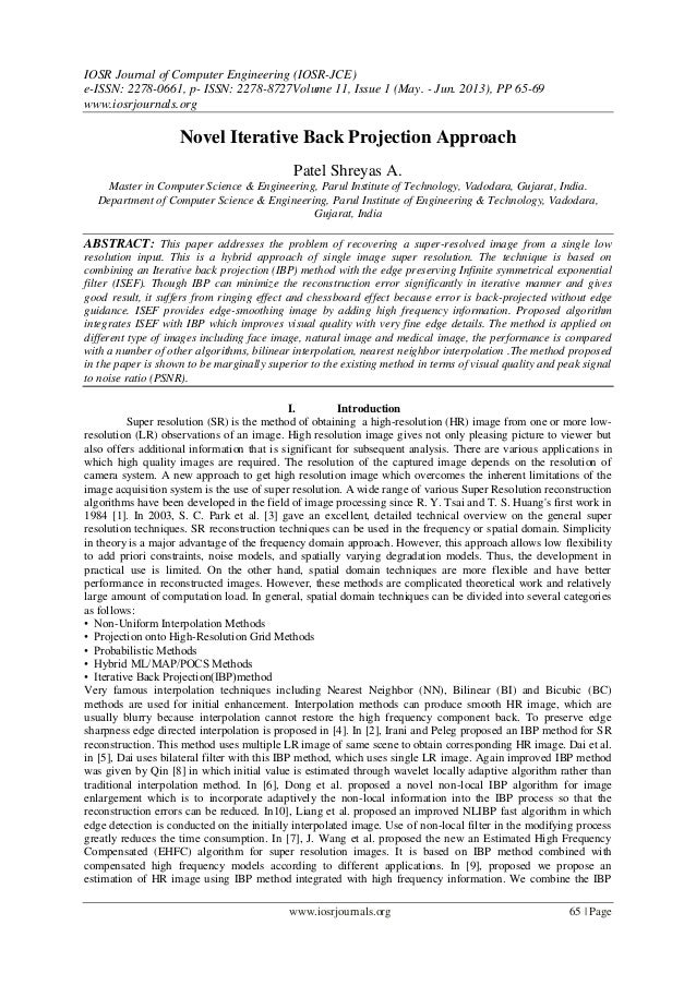 IOSR Journal of Computer Engineering (IOSR-JCE) e-ISSN: 2278-0661, p- ISSN: 2278-8727Volume 11, Issue 1 (May. - Jun. 2013)...