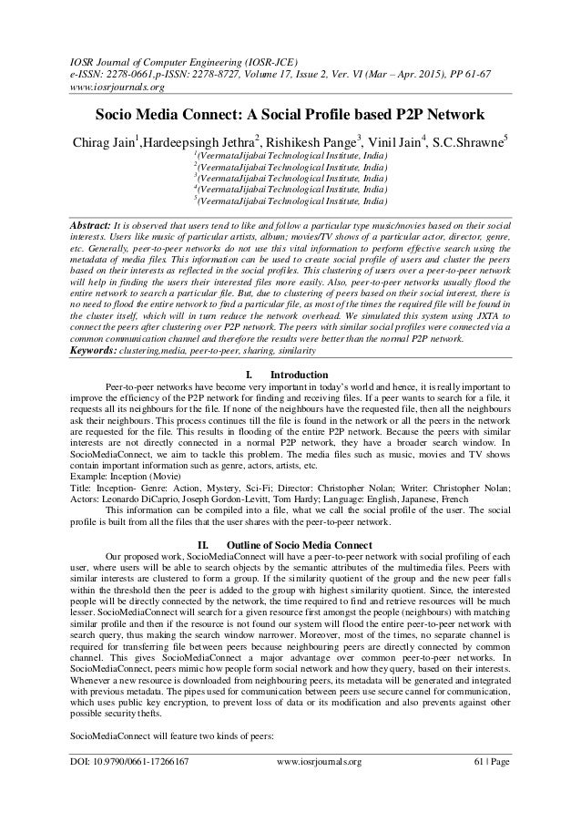 IOSR Journal of Computer Engineering (IOSR-JCE) e-ISSN: 2278-0661,p-ISSN: 2278-8727, Volume 17, Issue 2, Ver. VI (Mar – Ap...
