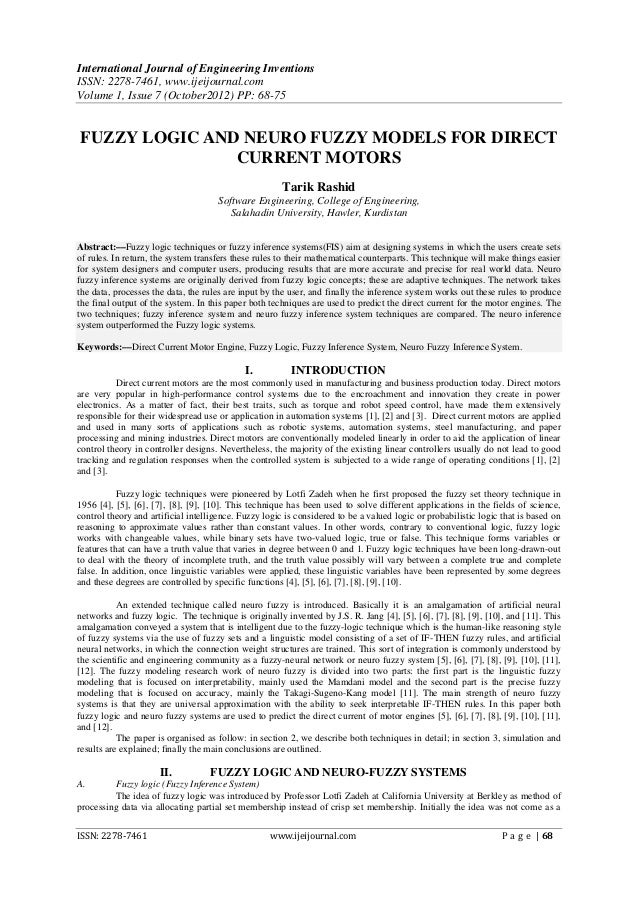 International Journal of Engineering InventionsISSN: 2278-7461, www.ijeijournal.comVolume 1, Issue 7 (October2012) PP: 68-...