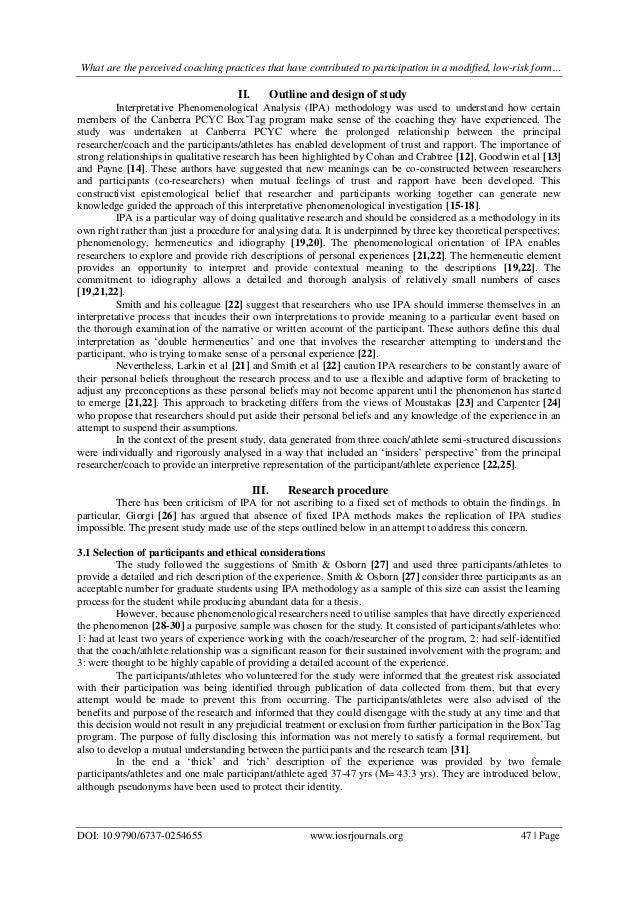 the coaching relationship an interpretative phenomenological analysis