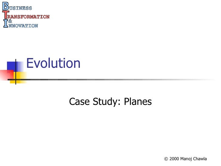 Evolution Case Study: Planes