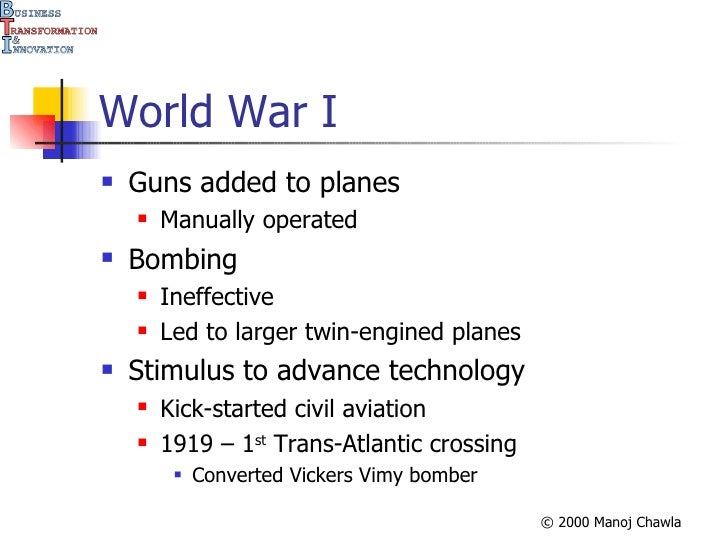 Evolution of Aircraft
