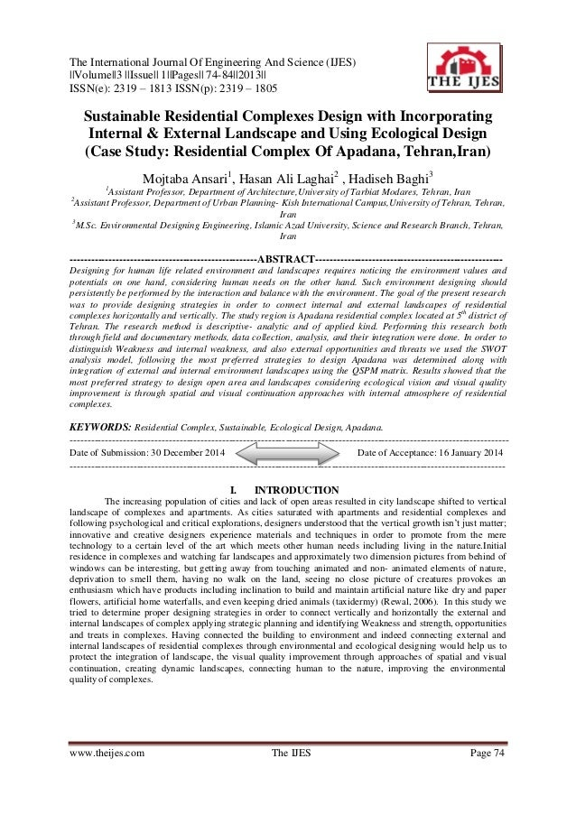 The International Journal Of Engineering And Science (IJES) ||Volume||3 ||Issue|| 1||Pages|| 74-84||2013|| ISSN(e): 2319 –...