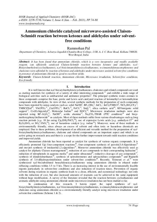 IOSR Journal of Applied Chemistry (IOSR-JAC)e-ISSN: 2278-5736. Volume 3, Issue 4 (Jan. – Feb. 2013), PP 74-80www.iosrjourn...