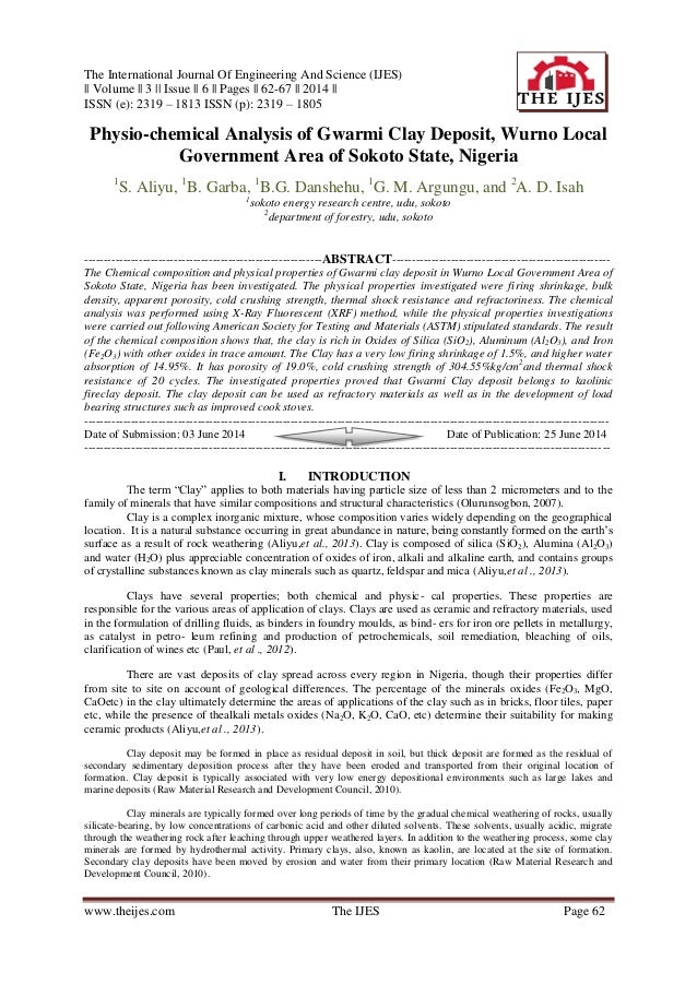 The International Journal Of Engineering And Science (IJES) || Volume || 3 || Issue || 6 || Pages || 62-67 || 2014 || ISSN...