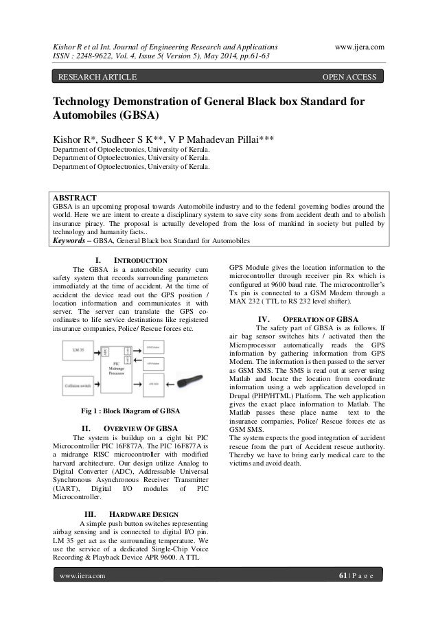 Kishor R et al Int. Journal of Engineering Research and Applications www.ijera.com ISSN : 2248-9622, Vol. 4, Issue 5( Vers...