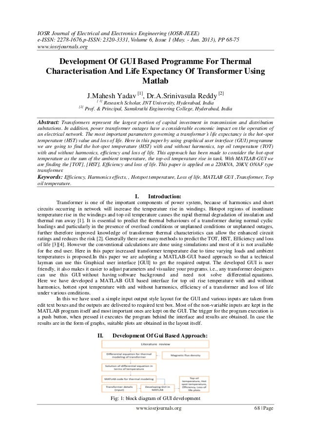 Development Of GUI Based Programme For Thermal Characterisation And L…