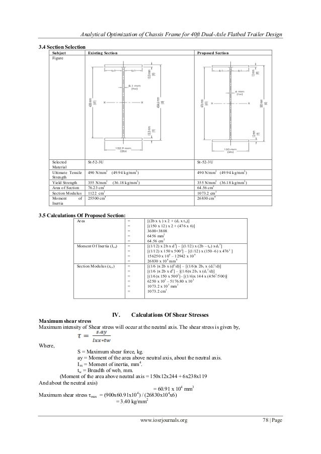 Analytical Optimization of Chassis Frame for 40ft Dual-Axle Flatbed T…