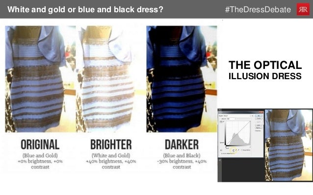 Optical illusion blue and black dress