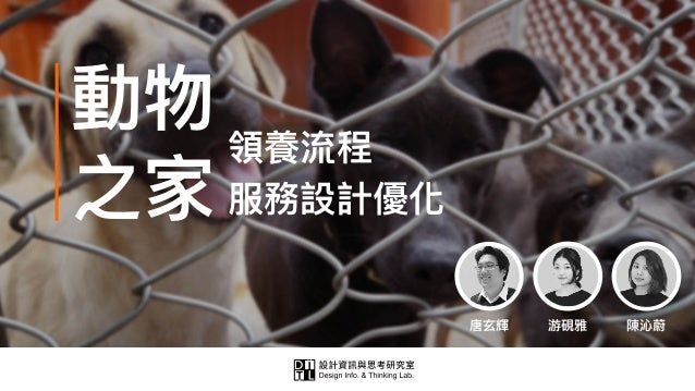 唐⽞玄輝 動物 之家 領養流程 服務設計優化 游硯雅 陳沁蔚