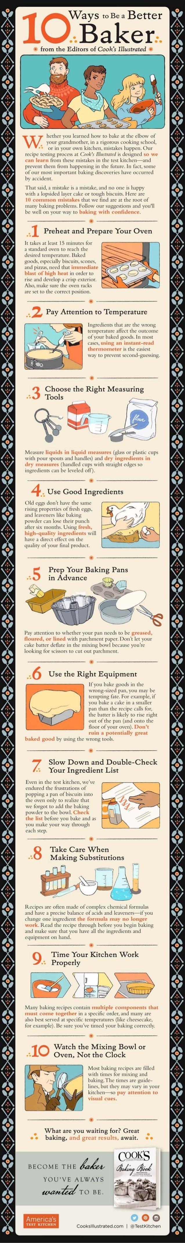 10 Ways to Be a Better Baker