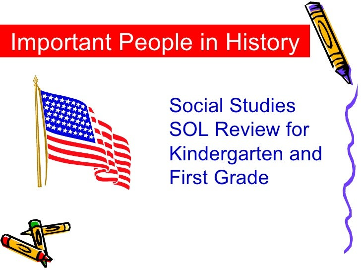 Important People in History Social Studies SOL Review for Kindergarten and First Grade