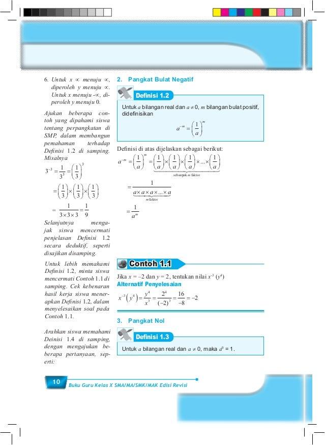 Buku Guru Matematika Sma Kelas X Kurikulum 2013 Blogerkupang Com