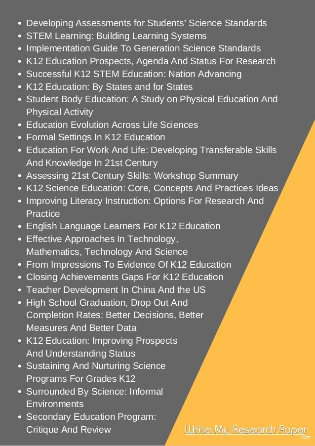 research paper topics about k-12