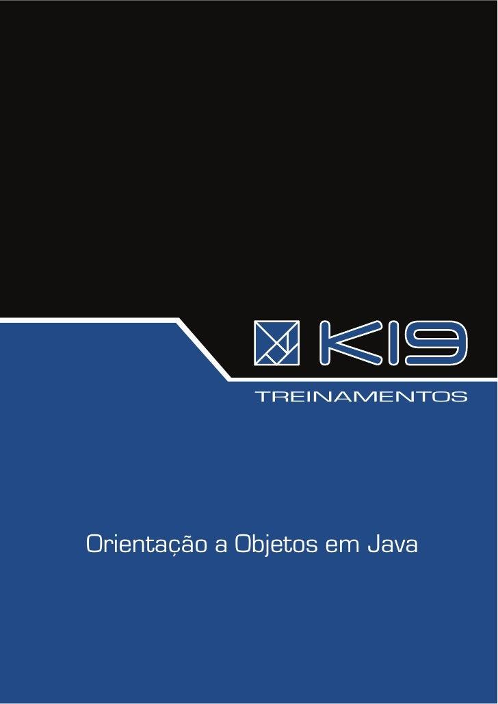 TREINAMENTOS     Orientação a Objetos em Java
