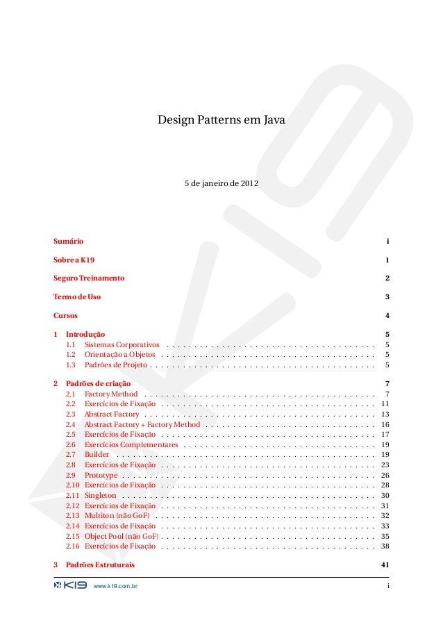 K19 k51 design patterns em java for Object pool design pattern java