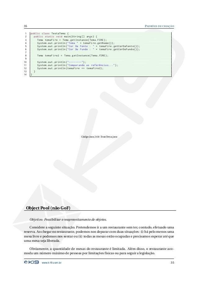 K19 k51 design patterns em java for Pool design pattern java