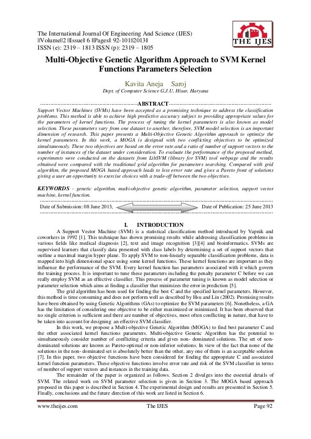 The International Journal Of Engineering And Science (IJES) ||Volume||2 ||Issue|| 6 ||Pages|| 92-101||2013|| ISSN (e): 231...