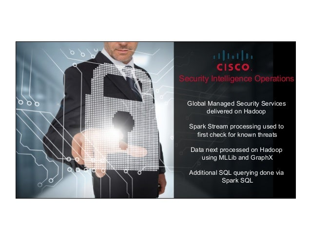® © 2015 MapR Technologies 5 Global Managed Security Services delivered on Hadoop Spark Stream processing used to first ch...