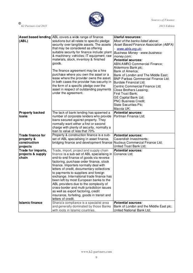 K2 guide business finance 2013 version 1