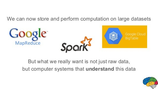 We can now store and perform computation on large datasets But what we really want is not just raw data, but computer syst...