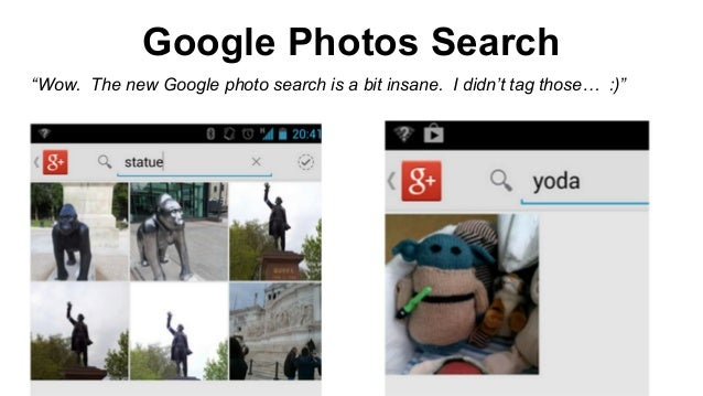 """Google Photos Search """"Wow. The new Google photo search is a bit insane. I didn't tag those… :)"""""""