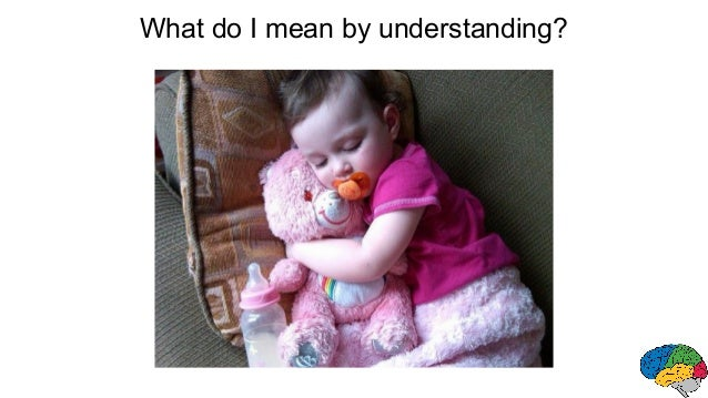 What do I mean by understanding?