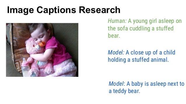 Model: A close up of a child holding a stuffed animal. Human: A young girl asleep on the sofa cuddling a stuffed bear. Mod...