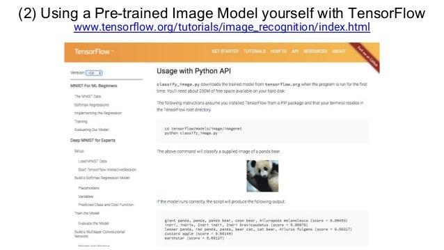 (3) Training a Model on Your Own Image Data www.tensorflow.org/versions/master/how_tos/image_retraining/index.html