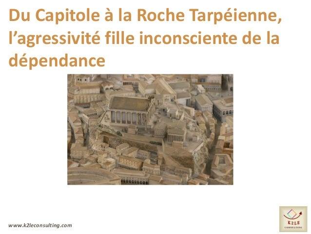 www.k2leconsulting.com Du Capitole à la Roche Tarpéienne, l'agressivité fille inconsciente de la dépendance