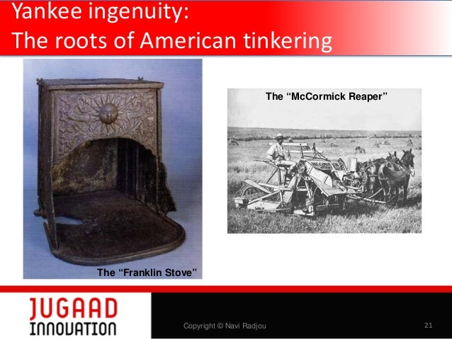 """Yankee ingenuity: The roots of American tinkering —aka Yankee ingenuity The """"McCormick Reaper""""  The """"McCormick Reaper"""" The..."""