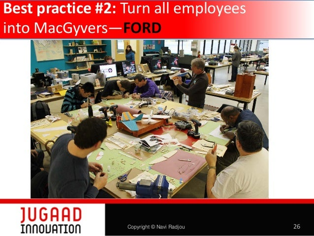 Best practice #2: Turn all employees into MacGyvers—FORD  Copyright © Navi Radjou  26