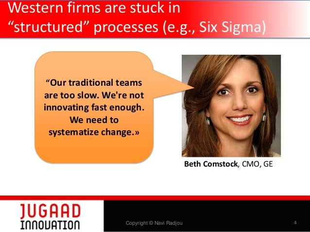 """Western firms are stuck in """"structured"""" processes (e.g., Six Sigma) """"Our traditional teams  are too slow. We're not innova..."""