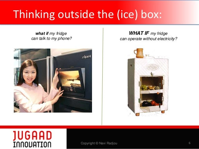 Thinking outside the (ice) box: WHAT IF my fridge  what if my fridge can talk to my phone?  can operate without electricit...