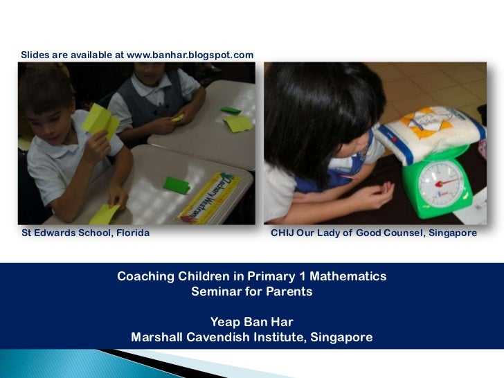 Slides are available at www.banhar.blogspot.comSt Edwards School, Florida                        CHIJ Our Lady of Good Cou...